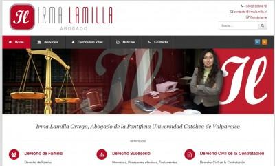 Sitio Web irmalamilla.cl